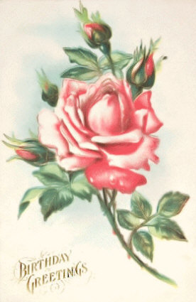 Beautiful Roses Vintage Birthday Card Old Fashioned